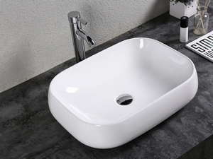ARNO WASHBASIN 56X42 H14,5 CERAMIC GLOSSY WHITE
