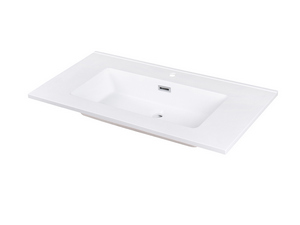 BATHROOM FURNITURE SMART 91 CM NATURAL OAK WITH MARBLE-RESIN WASHBASIN
