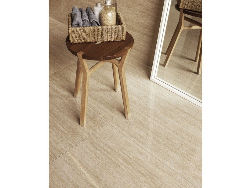 Travertino Effect Porcelain Tile - Accademia