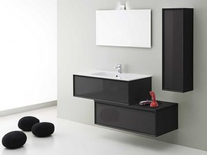 Colonna Bagno Brera Color 33X109 Reversibile Antracite