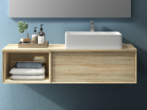 BRERA BATHROOM FURNITURE 140 CM ROVERE LARIX AND RIGHT TOP