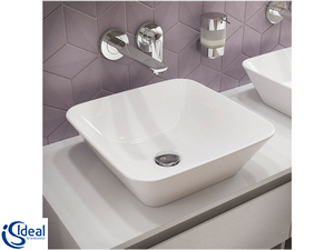 IDEAL STANDARD® CONNECT AIR WALL BASIN MIXER PLATE CHROME