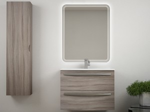 BATHROOM FURNITURE CORALLO 75 CM 2 DRAWER LARIX WITH CERAMIC UNITOP WASHASIN