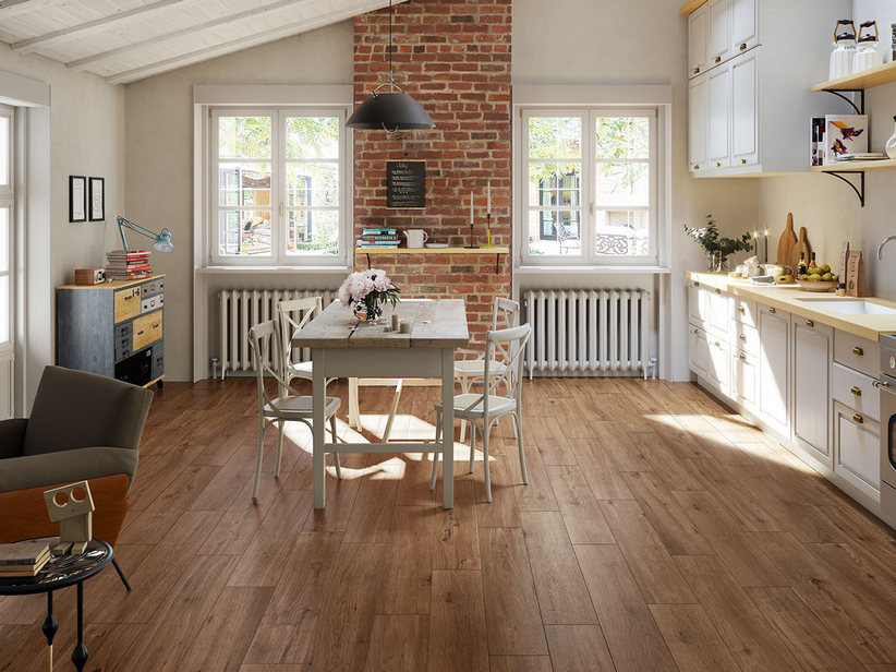 Natural Oak Effect Porcelain Tile - Cottage