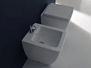 EGO 46 BACK TO WALL BIDET 46X36 cm. WHITE