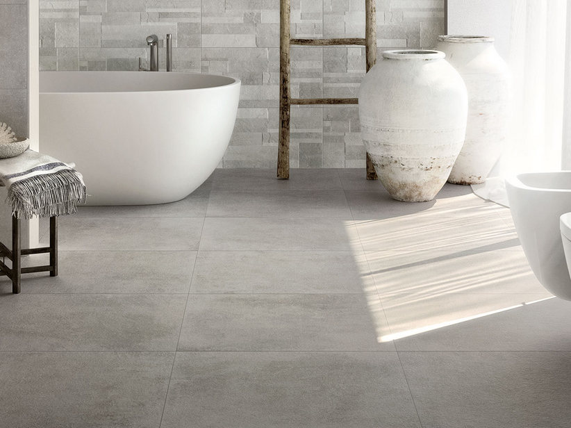 Stone effect floor and wall porcelain tile - Ever