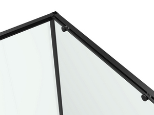 CORNER SHOWER BOX FENG SHUI cm. 90x90 REVERSIBLE HINGED DOORS PIVOT PROFILE ULTRA SLIM BLACK MATT
