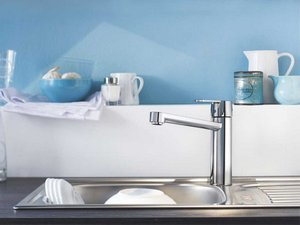 GROHE GET KITCHEN TAP MEDIUM/HIGH SPOUT CHROME