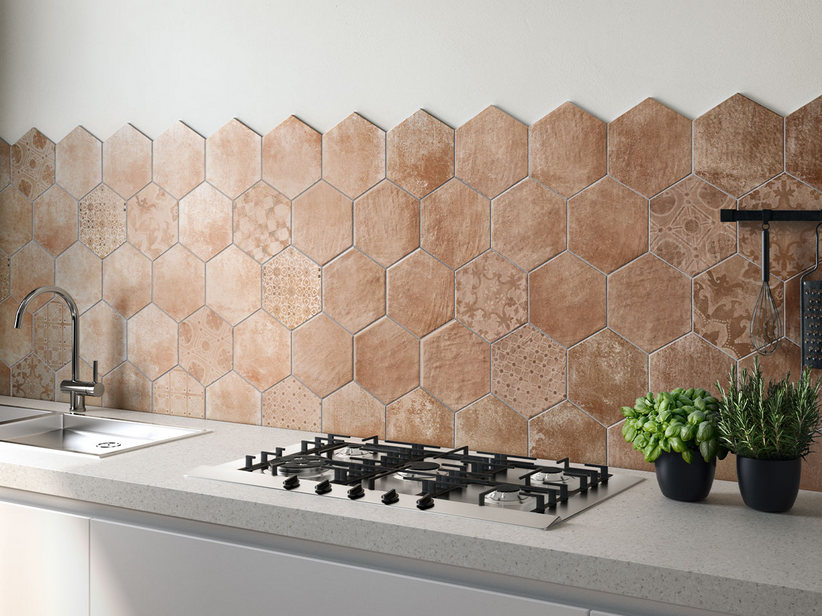 Hexagonal Porcelain Tile 21x18,2 - Hexagone