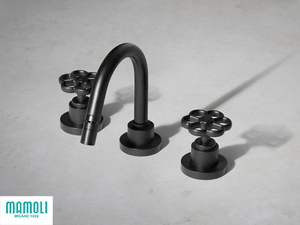 HIPSTER 3-HOLE BIDET MIXER WITH DRAIN BLACK MATT