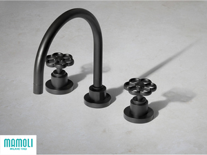 HIPSTER 3-HOLE BASIN MIXER WITH DRAIN BLACK MATT