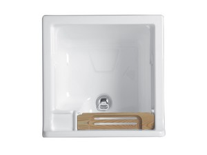 JOLLYWASH LAUNDRY SINK 50X50 GLOSSY WHITE