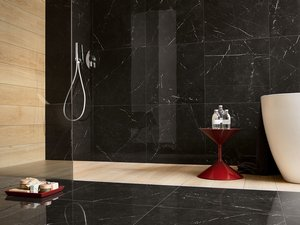 Marble Effect Lapped Porcelain - Black Marquinia