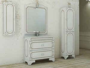 MONET/MATISSE INTEGRATED WASHBASIN 91X46