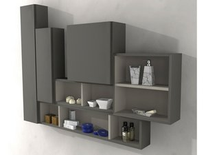 BH WALL UNIT 3 SPACE WITH PANEL 100X20 GREY TAUPE