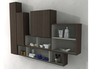 BH WALL UNIT 2 SPACE 60X20 ROVERE SOFT DARK