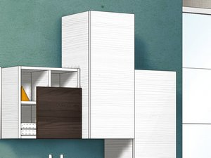 QUBO DOOR FOR WALL UNIT H80 WHITE MATRIX