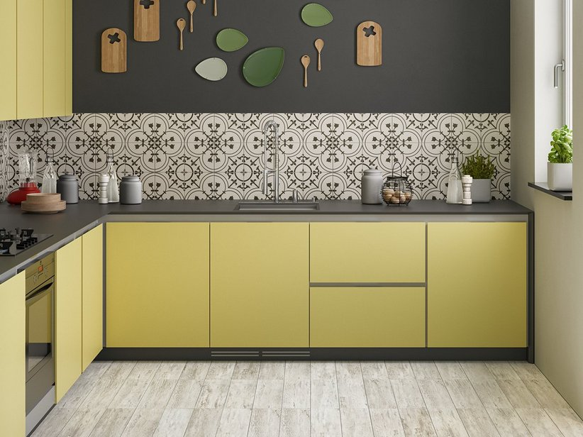 Cementina Effect Kitchen Wall Tile - Quilt