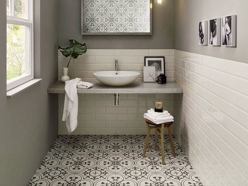 Cementina Effect Wall tile - Quilt