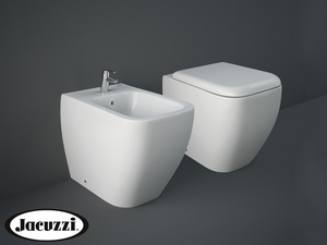 JACUZZI® RAY FLOOR-MOUNT BIDET 52,5x34 BACK-TO-WALL WHITE