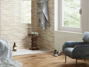 FLIESE RIETI HELLBEIGE 20X45 TRAVERTINOPTIK
