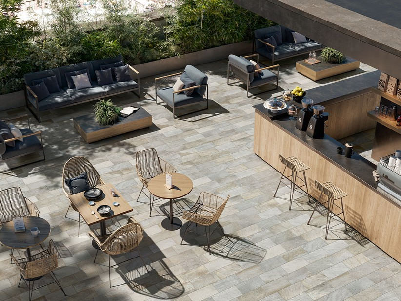 Outdoor Stone Effect Porcelain Tile 20x40 - Sestriere