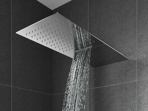 SHINE STAINLESS STEEL SHOWERHEAD 2 JET RAINFALL AND WATERFALL