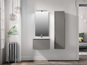Colonna Bagno Smart Color 36X25 H138 Fango Opaco