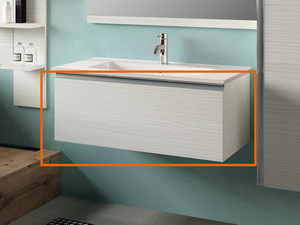 BATHROOM FURNITURE SMART 91 CM LARIX WHITE WITH UNITOP WASHBASIN
