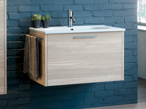 SMILE 75 CM BATHROOM FORNITURE AVANA LARCH WITH RESIN WASHBASIN