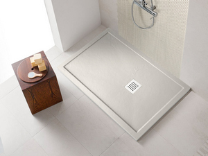 SHOWER TRAY STEP SLATE 90x140 WHITE
