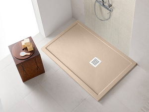 SHOWER TRAY STEP SLATE 80x120 MARFIL CREAM