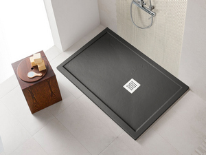 SHOWER TRAY STEP SLATE 70x100 BLACK AFRICA