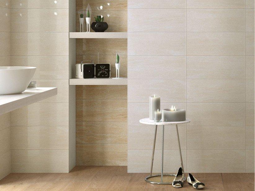Rivestimento bagno effetto marmo lucido tivoli iperceramica