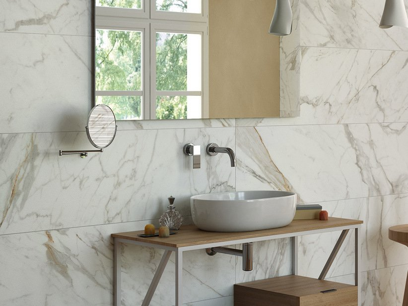 Marble wall porcelain tile 40x120 - Vendome