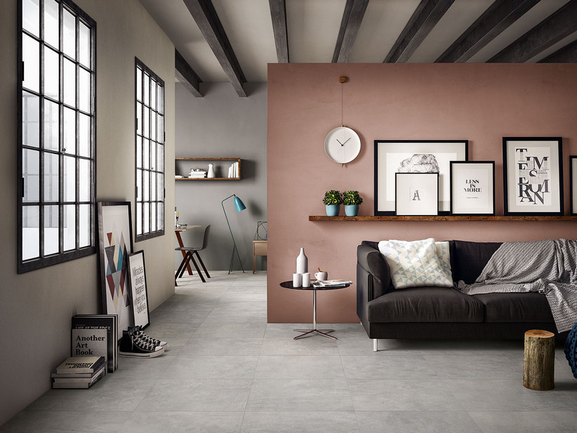 Cement effect porcelain tile - Works
