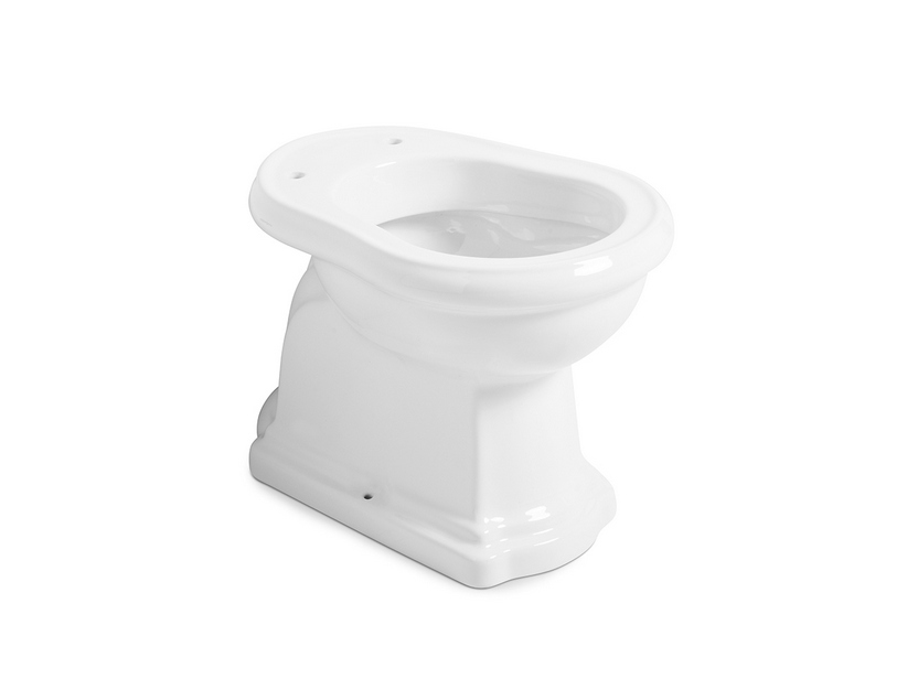 RETRO' FLOOR-MOUNTED PAN WITH WALL DRAIN P 53X38,5 WHITE