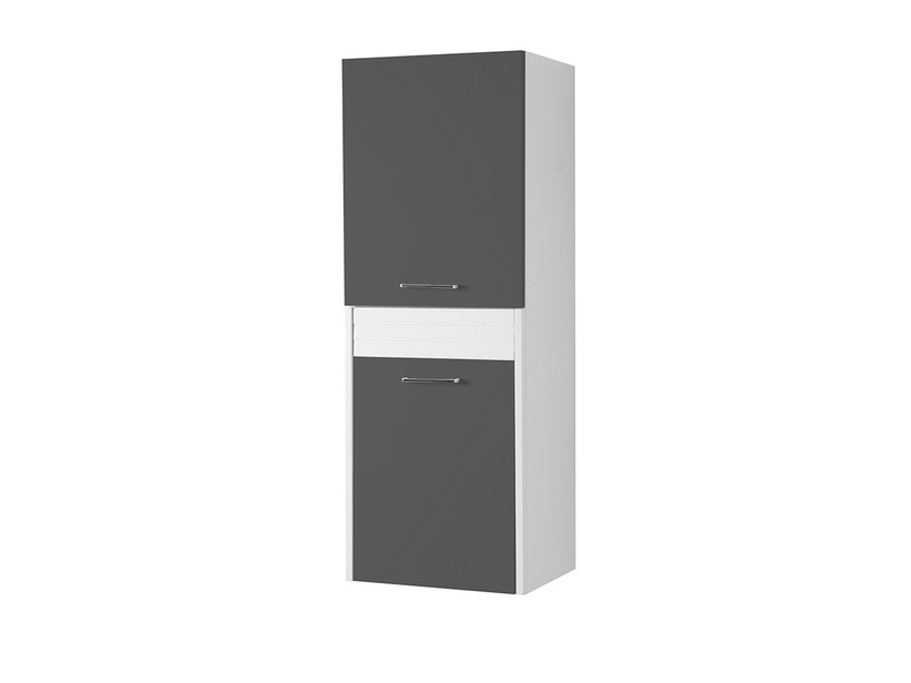 BRAVA5 LEFT WALL-HUNG COLUMN 45 ANTHRACITE GREY
