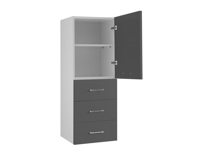 BRAVA7 RIGHT WALL-HUNG COLUMN 45 ANTHRACITE GREY