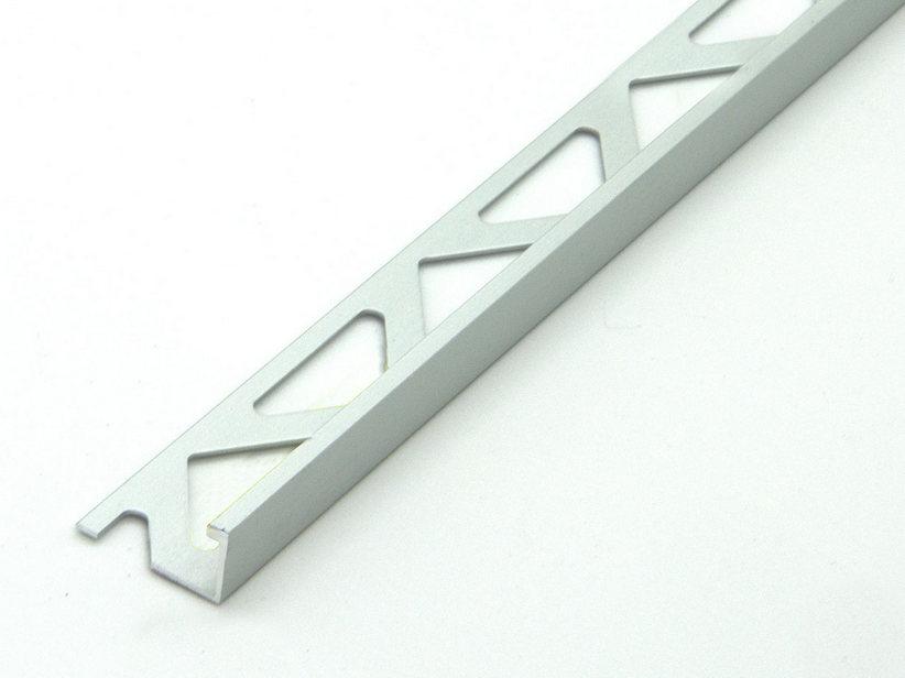 Profilo Angolare 1 Metro Alluminio Nero Spazzolato Mm 10x10x1