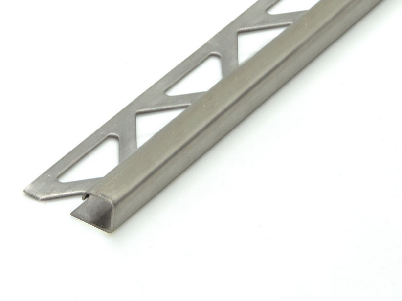 GBL SQUARE SATIN STEEL 12,5MM 2,7M