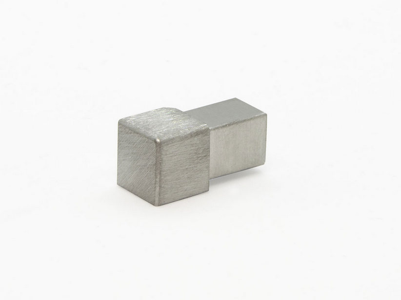 GBL SQUARE CAPSULE STEEL SATINATO 8MM 2PZ/SS
