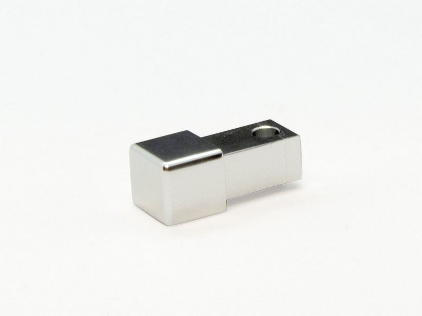 GBL SQUARE CAPSULE ALLUMINIO BRILL CR. 12,5MM