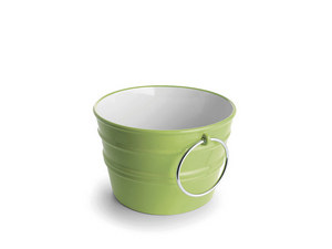 BACILE WASHBASIN cm.Ø46,5 H30 WITH RINGS GREEN