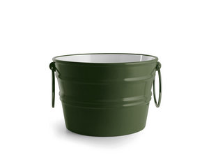 BACILE WASHBASIN cm.Ø46,5 H30 WITH RINGS ENGLISH GREEN