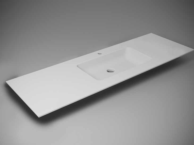 APP WASHBASIN UNITOP VASCA CENTRALE/RIGHT L158,3x51,2