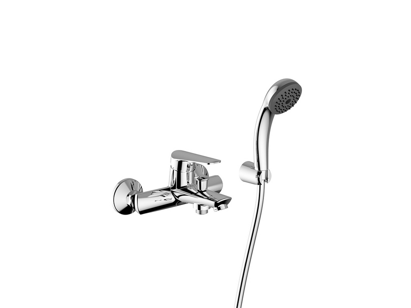 BOSTON BATH MIXER WITH HAND-SHOWER CHROME
