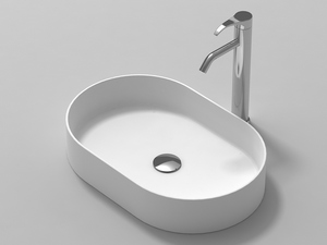LAVABO UNION ROUND SOLID SURFACE 58x38