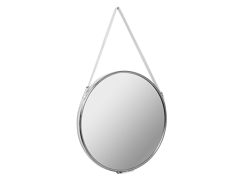 SELLERY MIRROR Ø 60 ECO-LEATHER WHITE