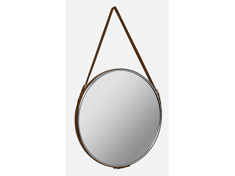 SELLERY MIRROR Ø 60 ECO-LEATHER NATURAL